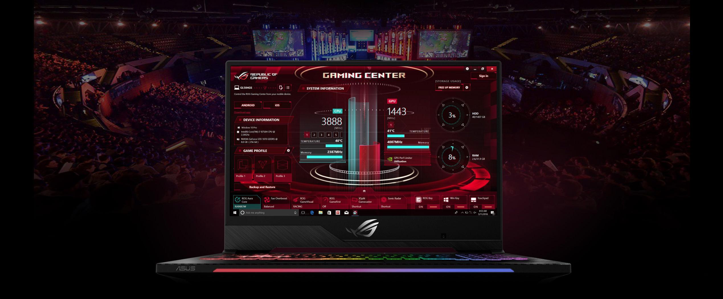 ASUS ROG Strix SCAR II GL504GM-ES172T/15 6/Intel® Core™ i7