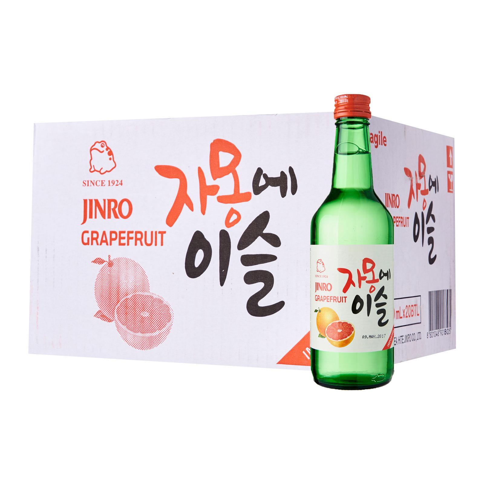 Jinro Grapefruit Soju Carton (20 Bottles) By Geonbae.