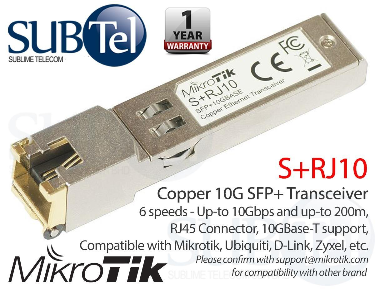 Mikrotik Buy At Best Price In Singapore Rb 941 2nd Hap Lite S Rj10 10g Sfp Transceiver Copper 10gbase T Rj45