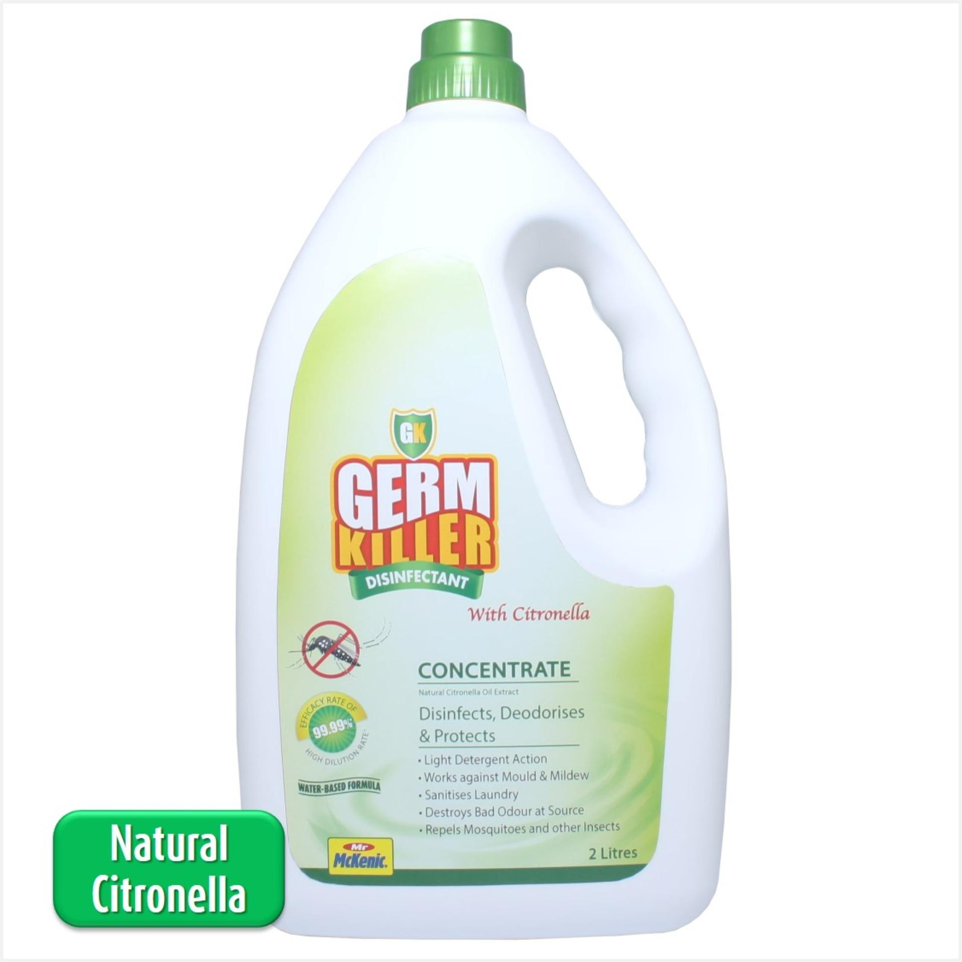 Price Gk Germkiller Gk Concentrate With Natural Citronella 2L Protect You Your Loved Ones From Zika Virus And Other Harmful Germs For Use At Home And For Laundry Singapore