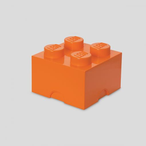 LEGO Storage Brick 4 (Bright Orange)