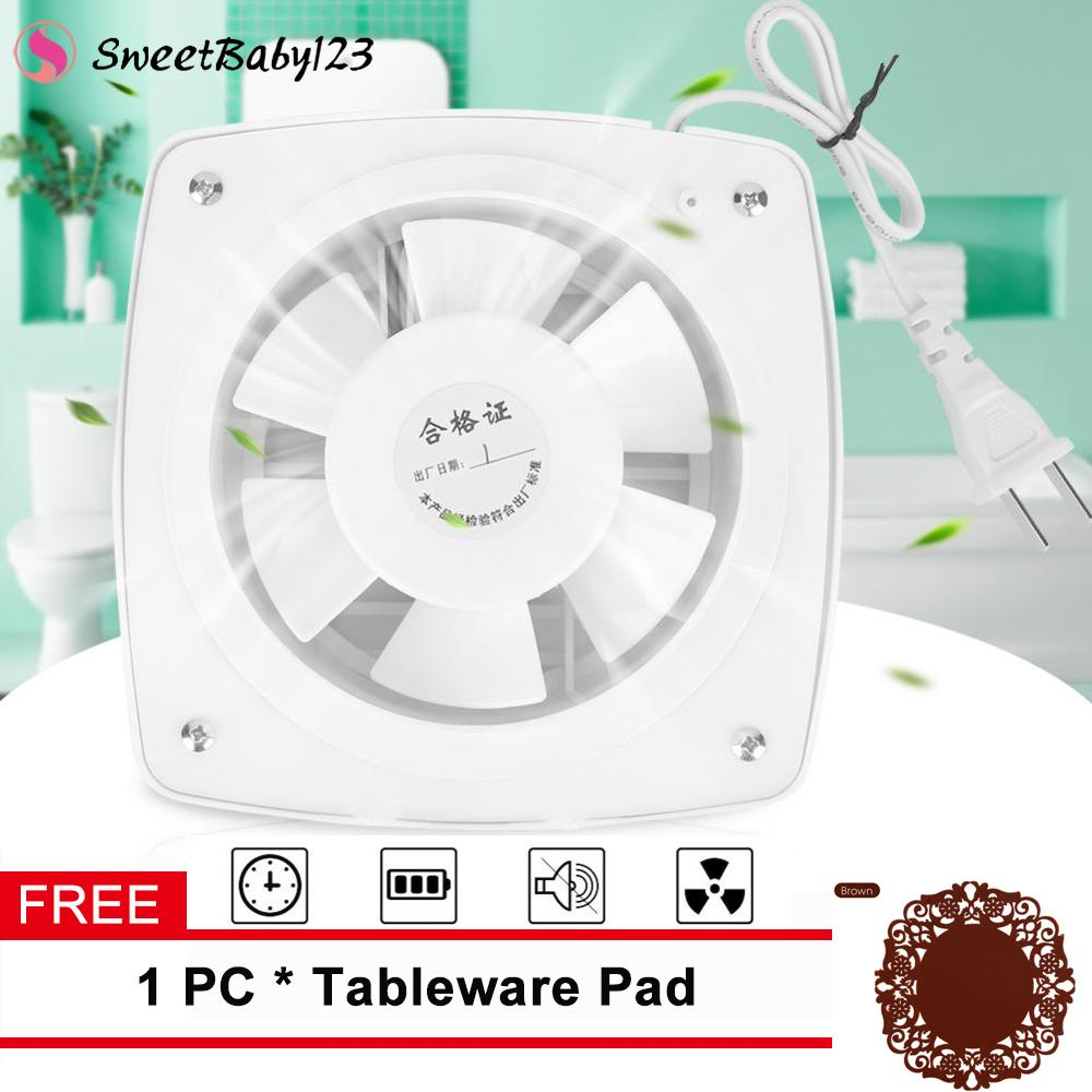 Free Gift 12w 220v Home Bathroom Kitchen Window Wall Mount Air Vent Ventilation Exhaust Fan Intl Singapore