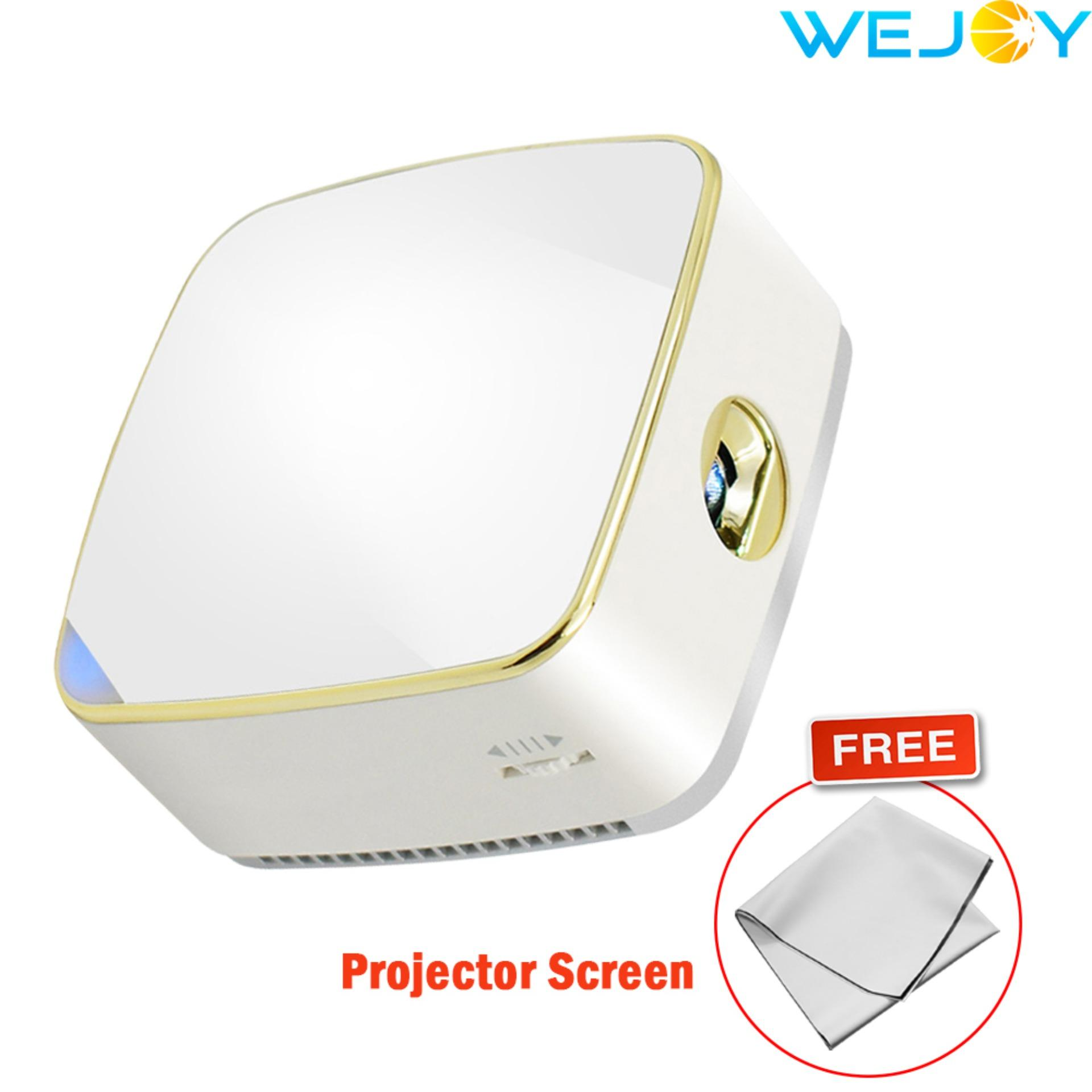 Wejoy Dl S8 Led Projector Hd Pico Portable Audio Video Projector Compatible With Iphone Ipad Android Phones With Free Projector Screen Free Shipping