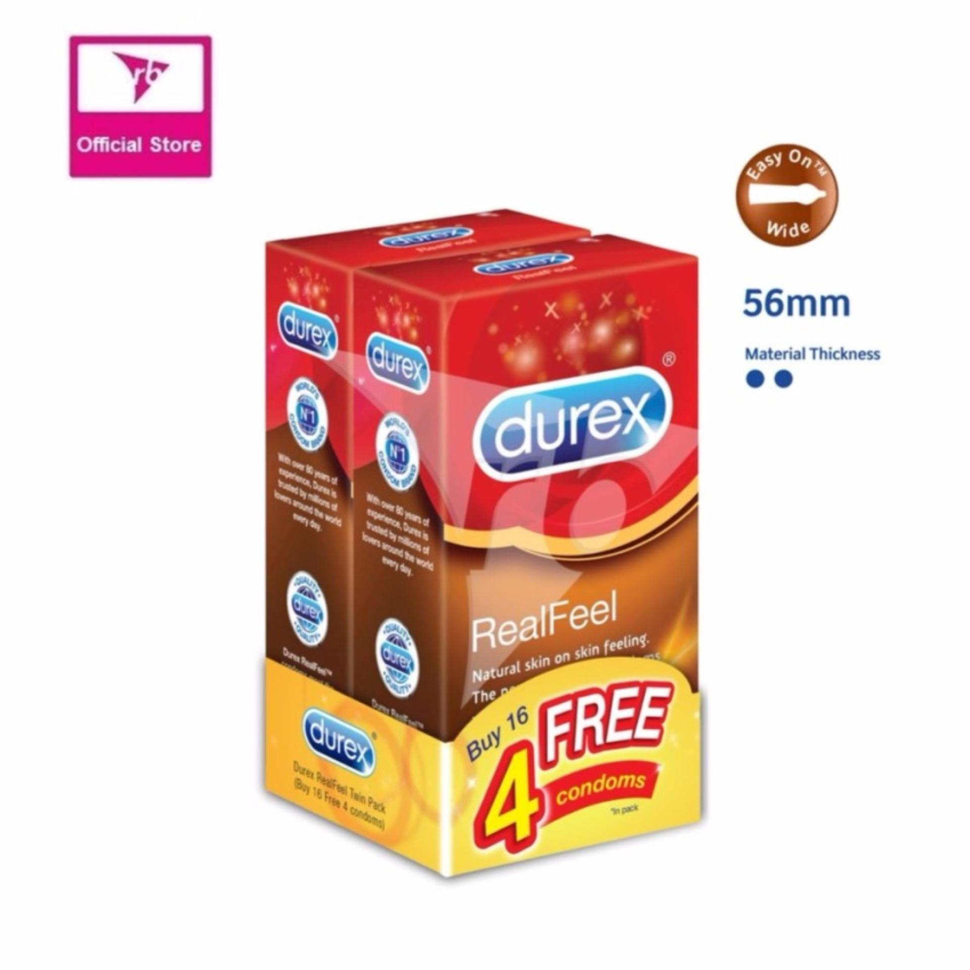 Cheap Durex Real Feel 10 S Twin Pack Free 4 Pcs Online