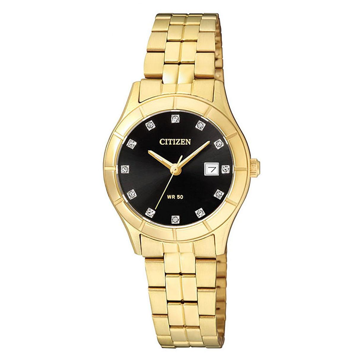 Price Comparisons For Citizen Citizen Quartz Gold Stainless Steel Case Stainless Steel Bracelet Ladies Eu6042 57E