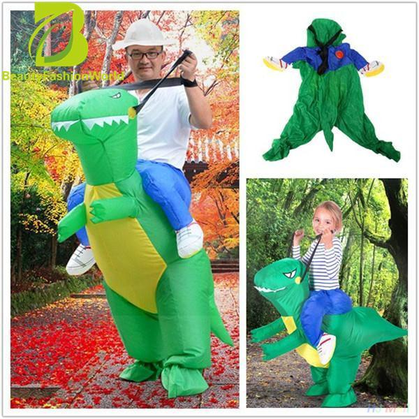 Inflatable *d*lt Dinosaur Party Costume Dino Rider Outfits Halloween Funny Review