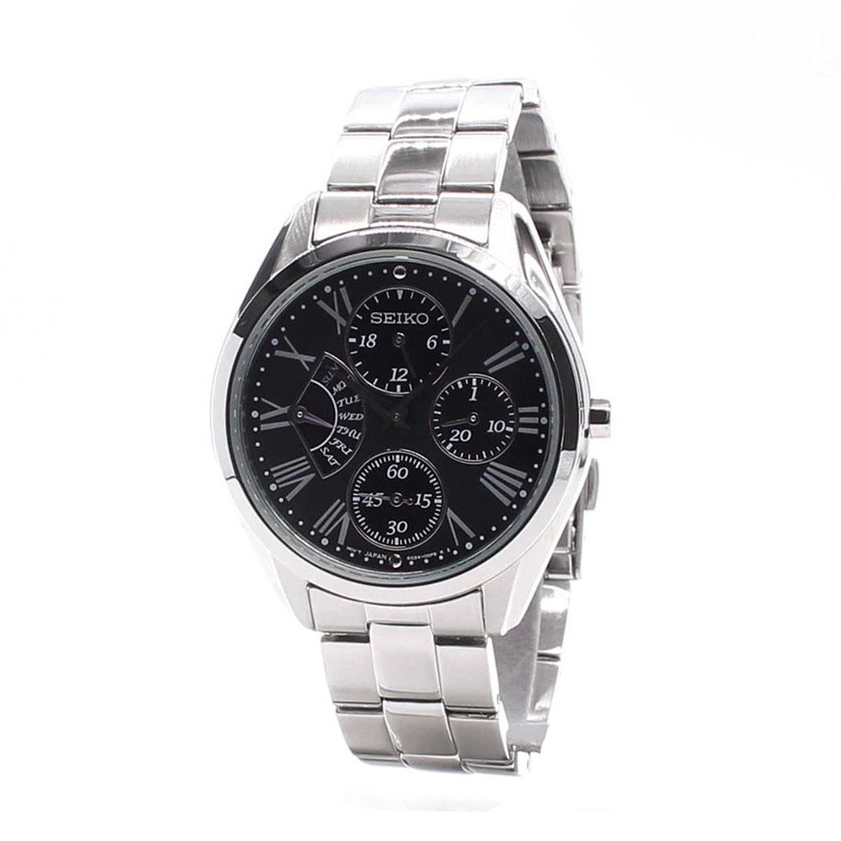 Purchase Seiko Watch Retrograde Silver Stainless Steel Case Stainless Steel Bracelet Ladies Srl049P1