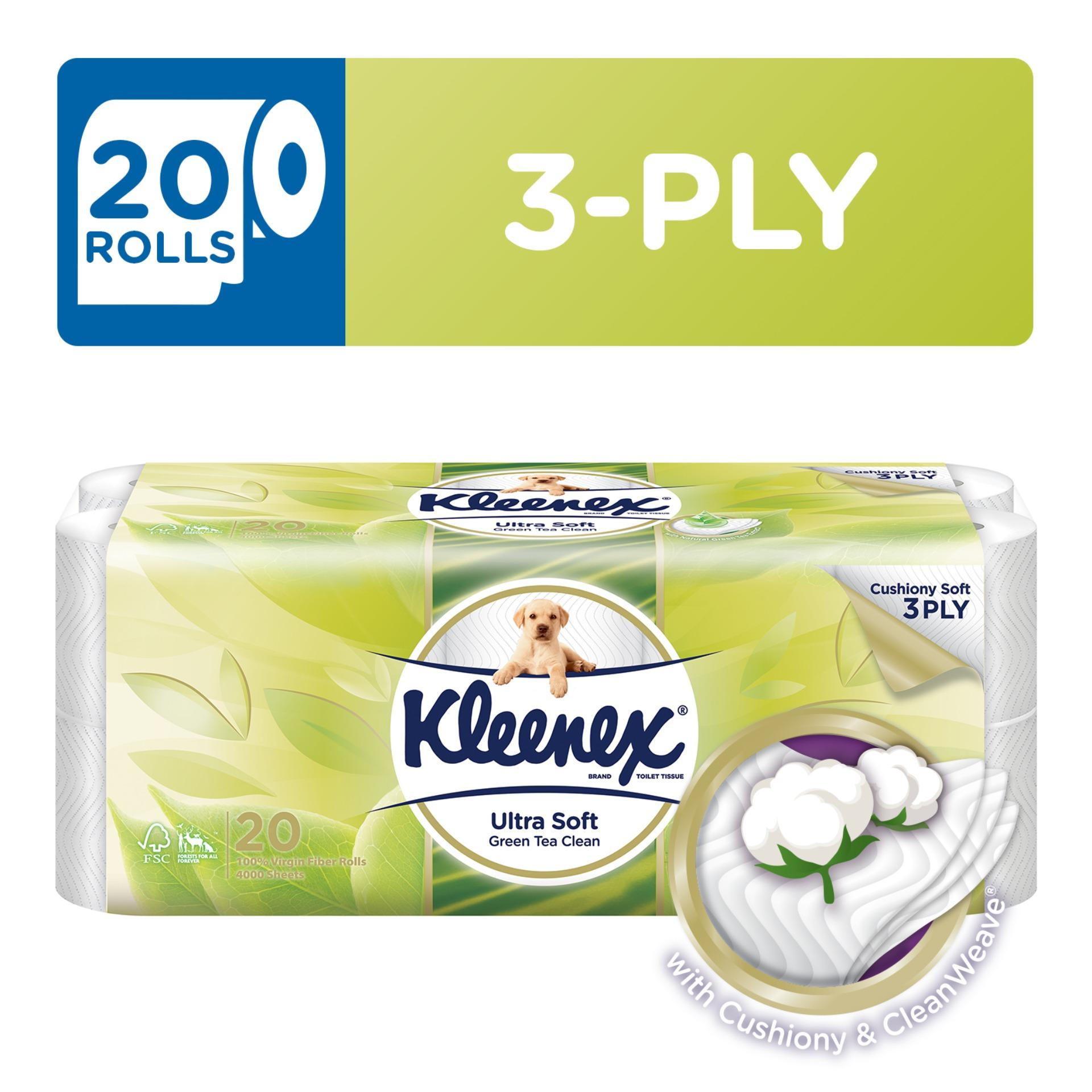 Low Price Kleenex Clean Care Bath Tissue Green Tea 20X200Sheets