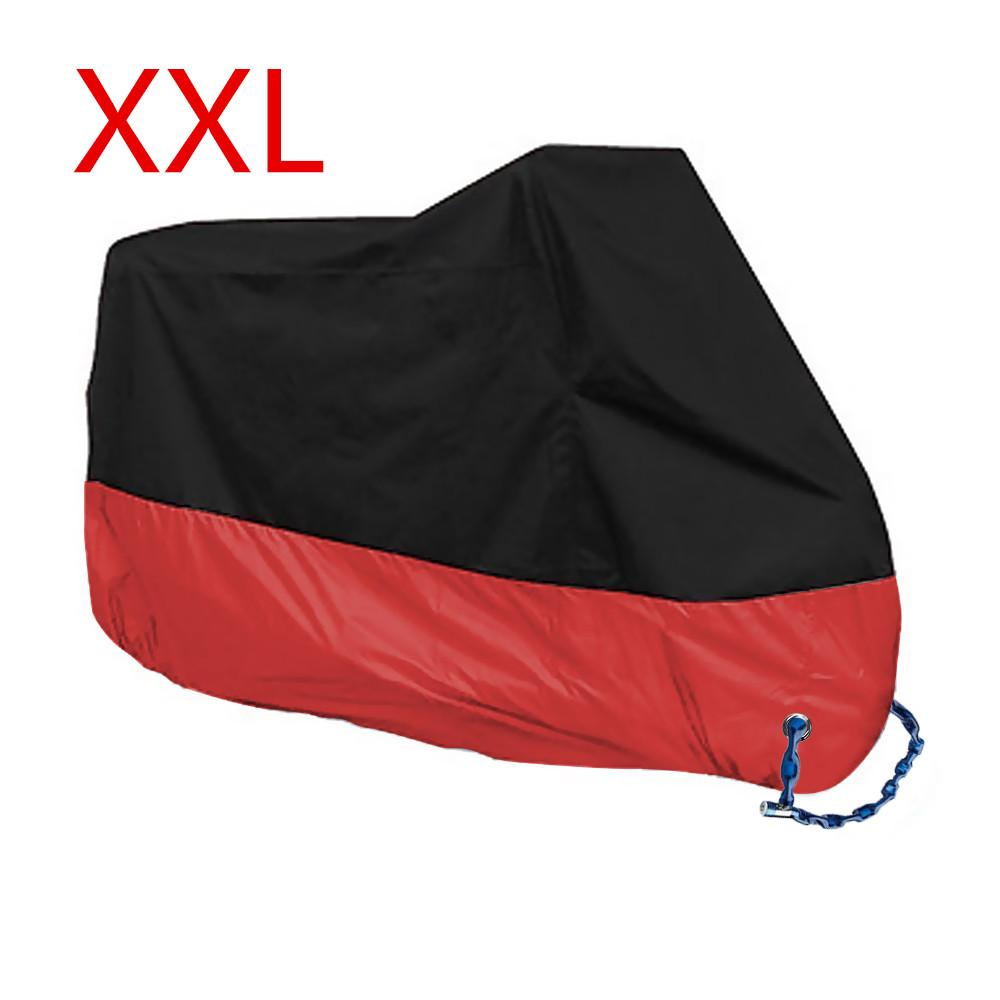 Great Deal Motorcycle Motorbike Waterproof Cover Protector Case Cover Rain Protection Breathable Black Red Color Xxl Intl