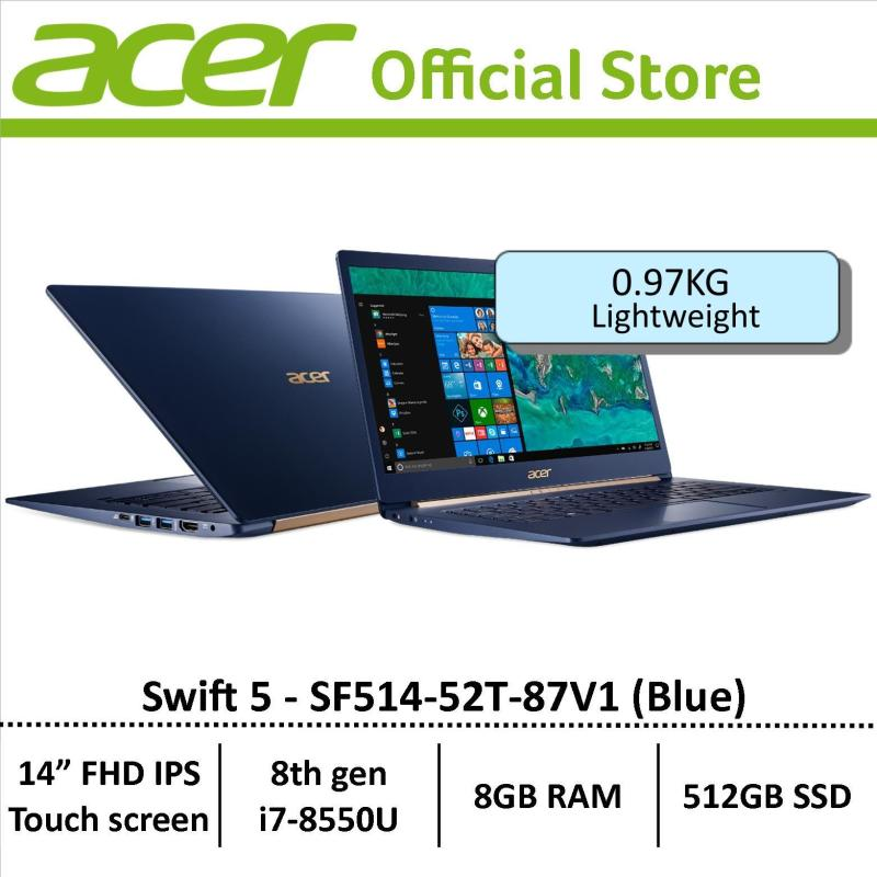 Acer Swift 5 SF514-52T-87V1 (Blue) Thin & Light Laptop - Free Gift with purchase