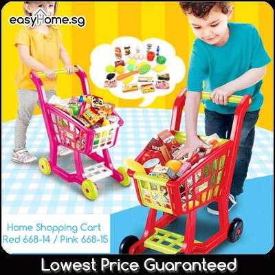 Home Shopping Cart 66814/ 66815- Kids Children Pretend Role Play Trolley Pushcart Toys By Easyhome.sg.