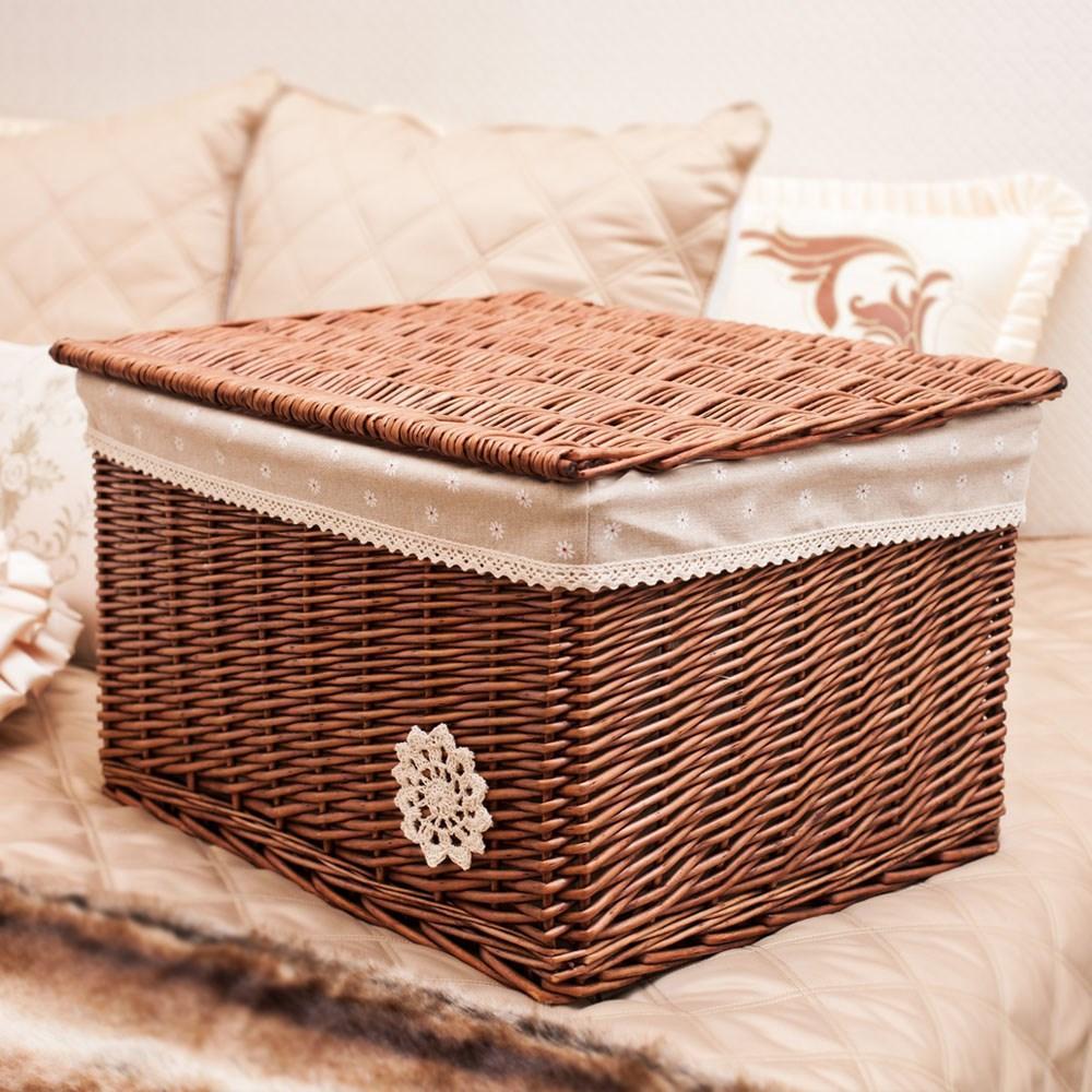 Baina large box organizing covered rattan