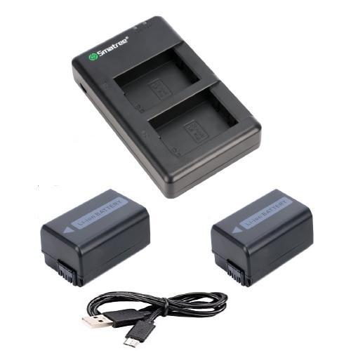 Price Smatree 2 Pack Np Fw50 Lithium Ion Battery Dual Charger For Sony Cameras On Singapore