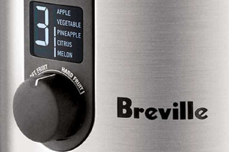 The Breville Ikon Juicer control dial