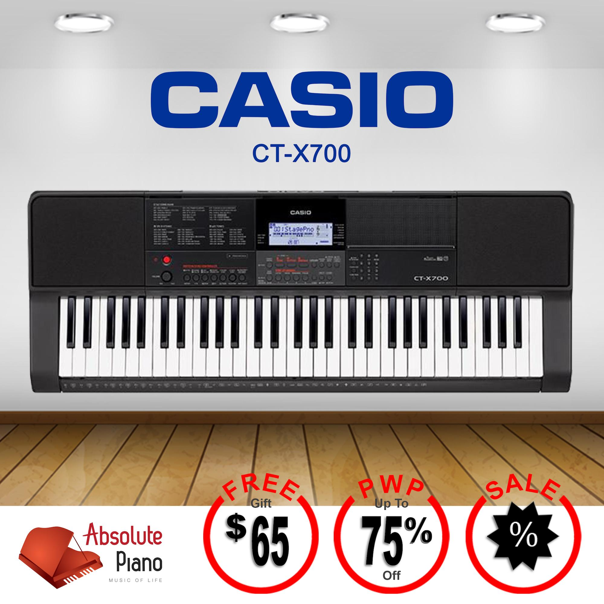 Sale Casio Portable Keyboard Ct X700 Black With Casio Cs 2X Stand Cp 16 Headphones Singapore Cheap