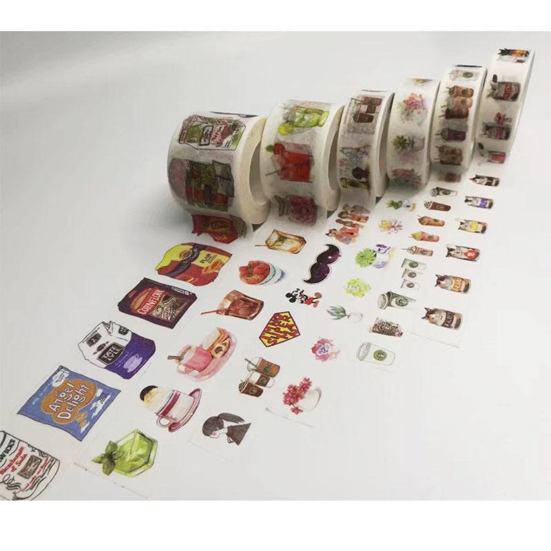 Mua 4rolls Washi Masking Tapes Retro Coffee Flower Decorative Adhesive Scrapbooking DIY Paper Japanese Stickers 1.5cm*10m - intl