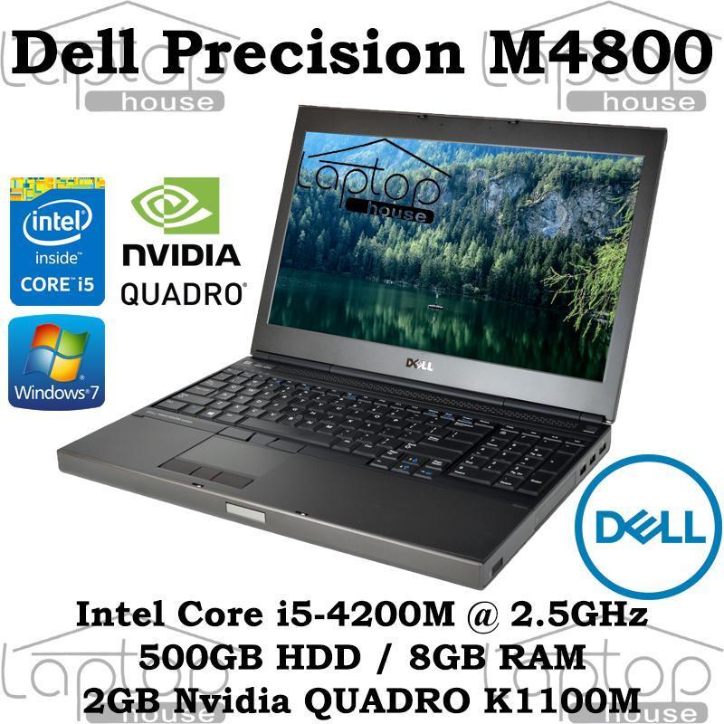[REFURBISHED] Dell Precision M4800 i5-4200M/ 8GB RAM/ 500GB HDD