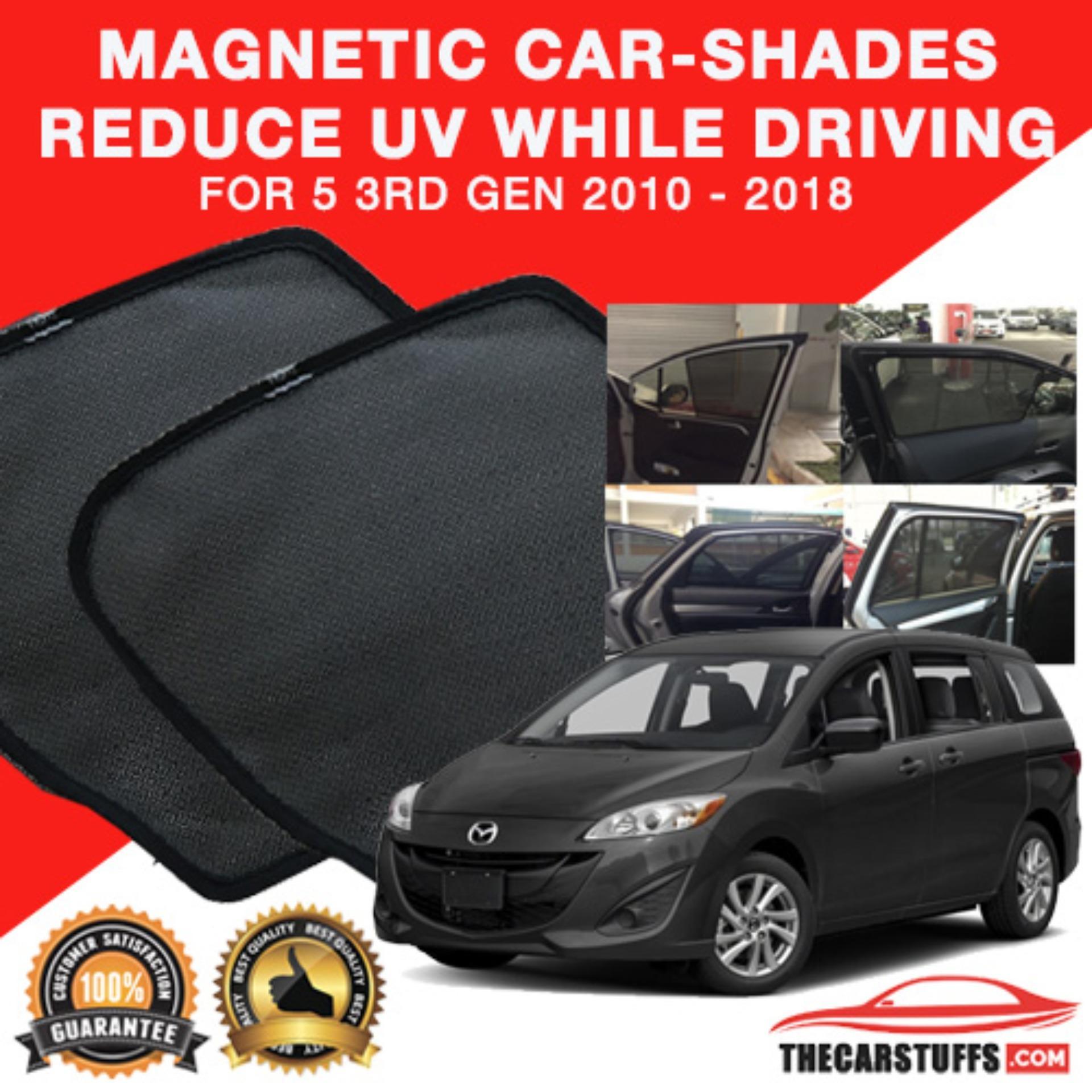Mazda 5 3rd gen 2010 2018 magnetic sunshade
