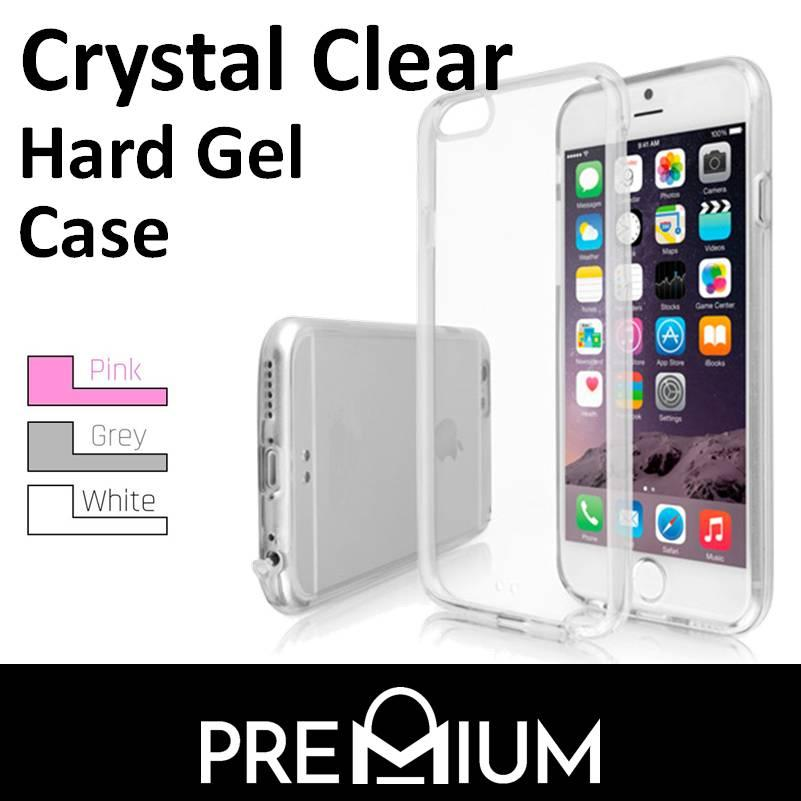 Crystal Clear Hard Gel Case For Apple iPhone 6 / 6S - Clear
