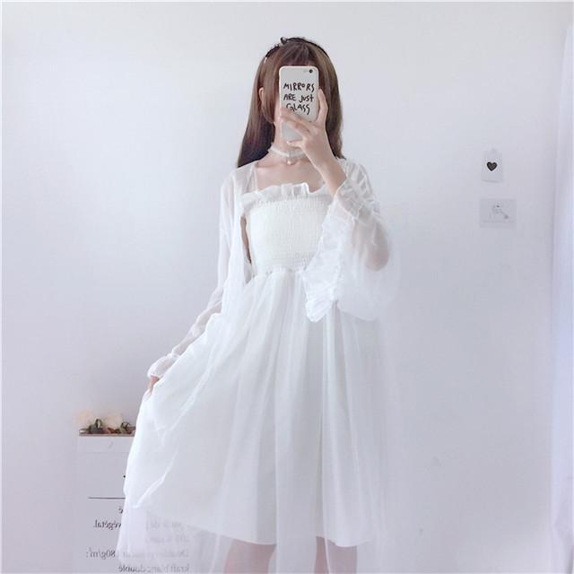 Pakaian pelindung matahari sepotong tunggal Musim panas wanita baru versi  Korea dari adik lembut 716920afc8