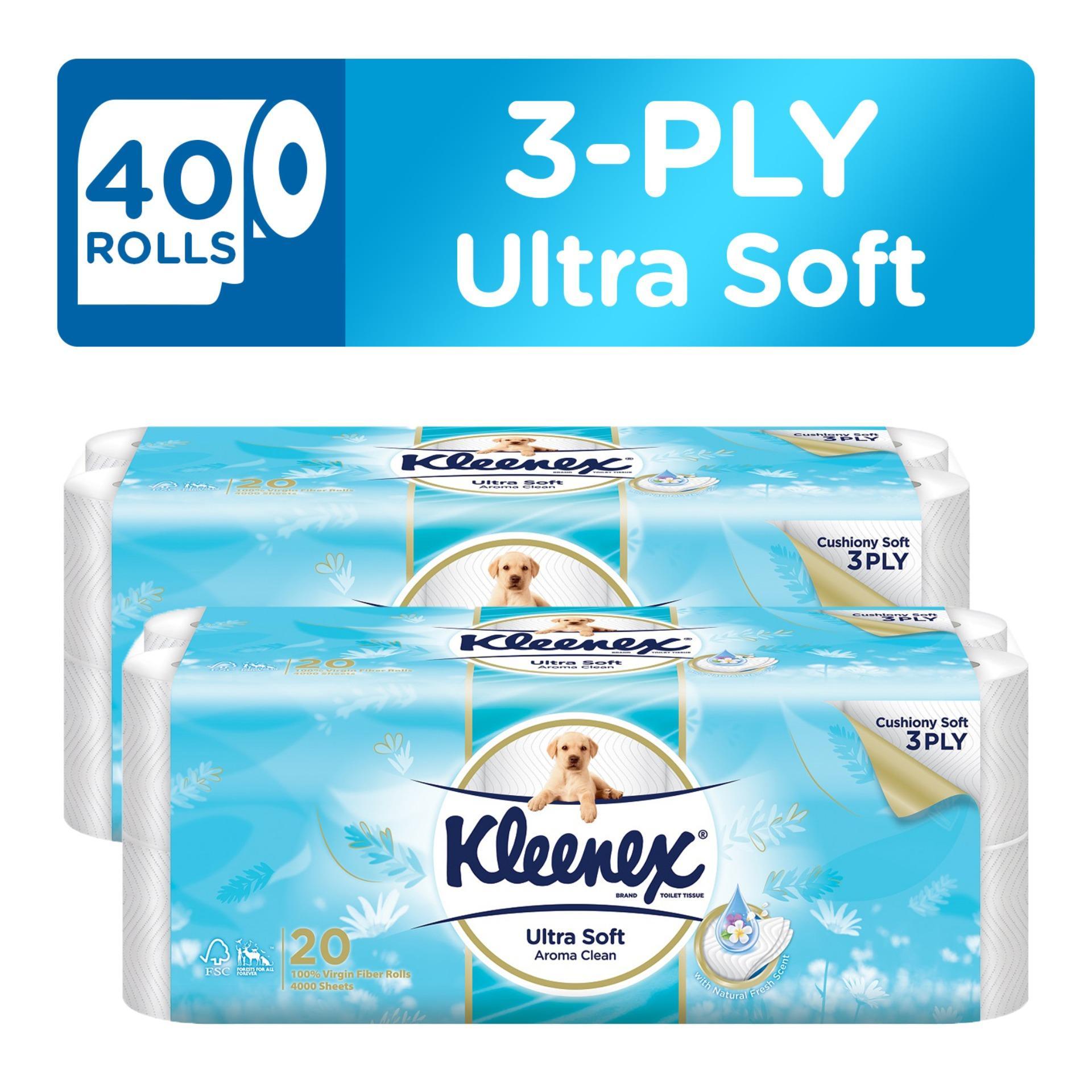 Kleenex Clean Care Bath Tissue Fresh Scent 20X200Sheets X 2 Best Buy