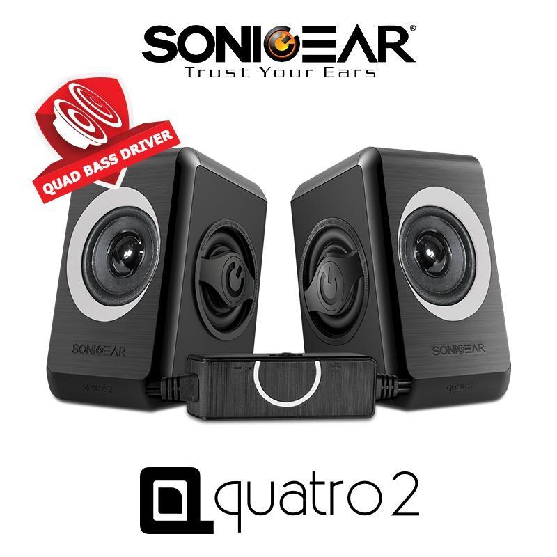 Review Sonicgear 2 Speaker Quatro 2 Grey Sonic Gear On Singapore