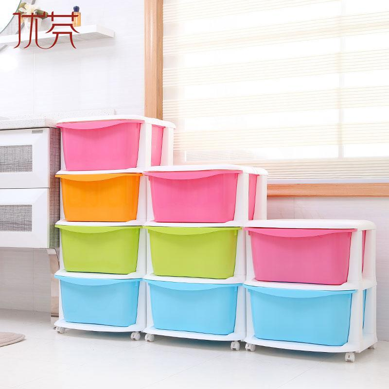 Plastic multilayer childrens toy organizer organizing box