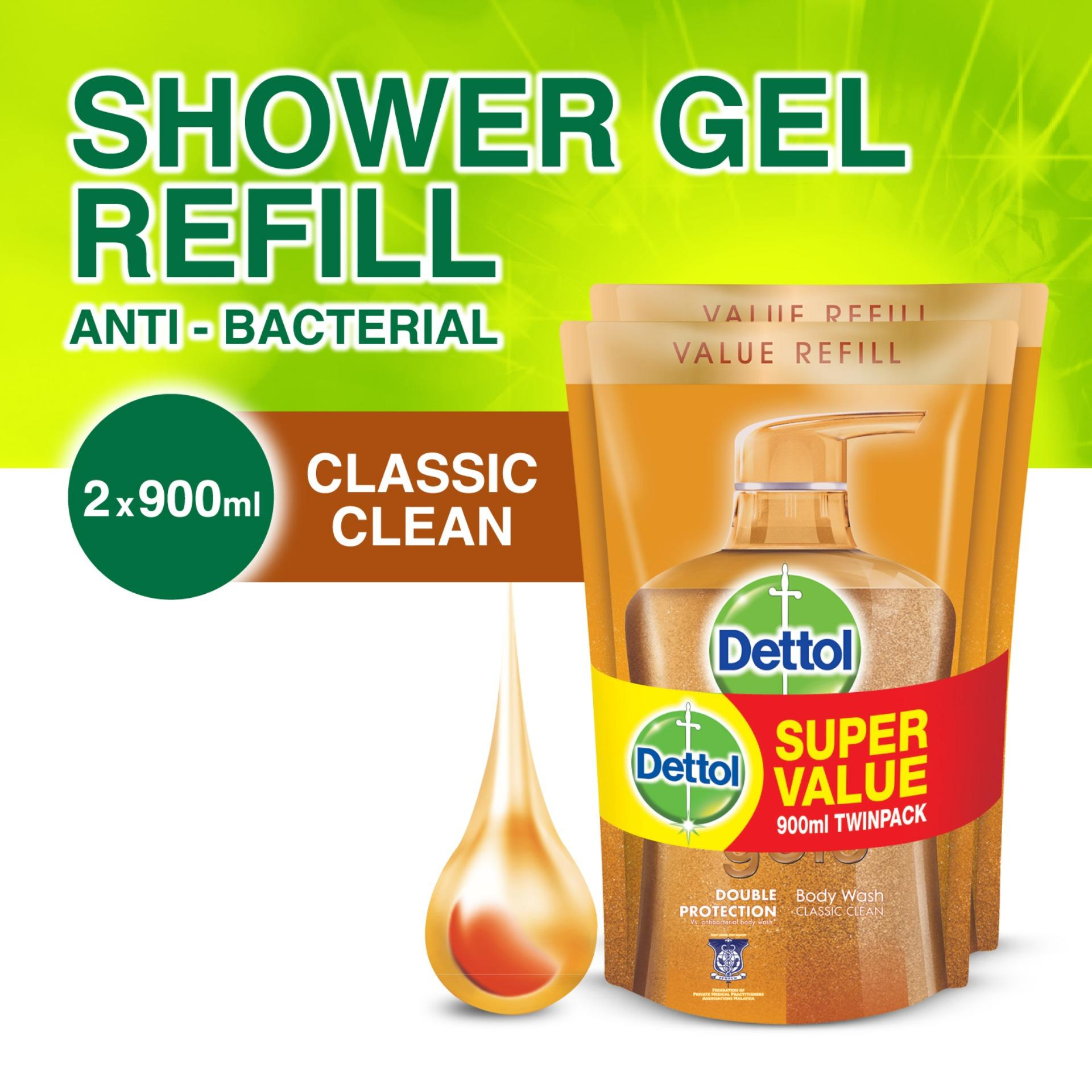 Dettol Gold Classic Clean Body Wash Refill Twin Pack 900Ml X 2 Dettol Discount