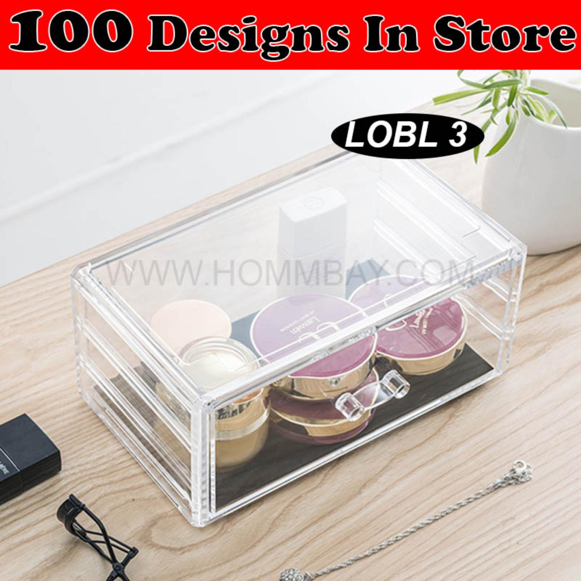Sale Clear Acrylic Transparent Make Up Makeup Lipstick Brush Brushes Cosmetic Jewellery Jewelry Organiser Organizer Drawer Storage Box Holder I Large I Stackable I Lobl 3 Online Singapore