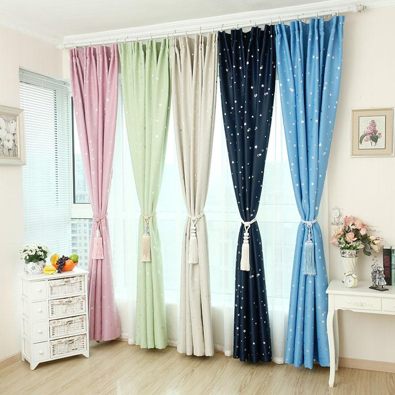 Buy Blackout Window Curtain New Design Hook Type Dark Blue 1 5 2 5M Cheap On Singapore
