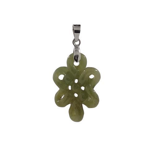 Enhanced Mystic Knot Pendant Jade (lt Green) By 8treasures.