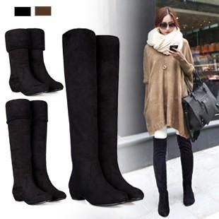 2015 Ladies Shoes Women Winter Knee High Long Boots Autumn And Winter women  Thigh Boots 7976a3c1d9a4