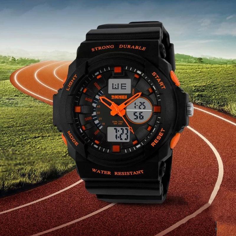 SKMEI Tampilan Digital LED Jam Tangan Olahaga untuk Pria Wanita Anak Kuarsa Jam Olahraga Relojes Multifungsi Jam Tangan Remaja Laki-laki-Intl