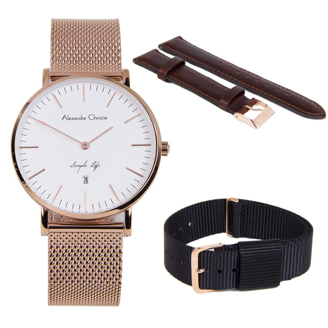 Buy Alexandre Christie Hot Lady Hand Watch Ac 2531 Silver Gold 8566ldbrgsl Simple Life Ladies Business