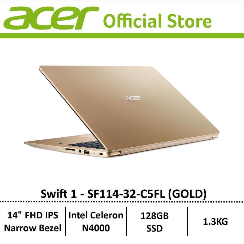 Acer Swift 1 SF114-32-C5FL (Gold) Thin and Light Narrow-Bezel Display Laptop