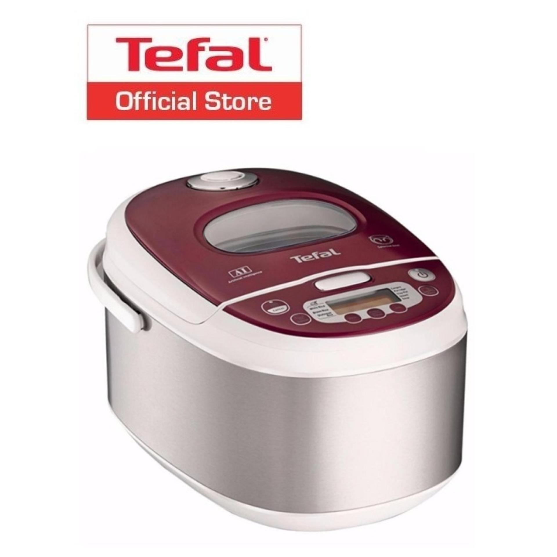 Retail Tefal Advanced 10 Program Fuzzy Logic Spherical Pot Rice Cooker 1 8L Rk8105