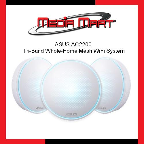 Best Deal Asus Ac2200 Tri Band Whole Home Mesh Wifi System For Large Homes With Aiprotection Network Security Powered By Trend Micro Asus Lyra App And Advanced Parental Control