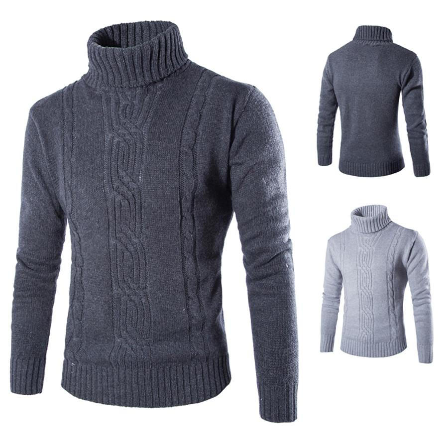 Men Winter Turtleneck Pullover Thermal Sweater Male High Collar Pullover  Sweater 795cb37ba