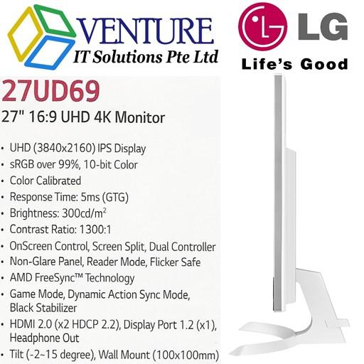 Compare Brand New Lg 27Ud69 27 16 9 Uhd 4K Ips Monitor Prices