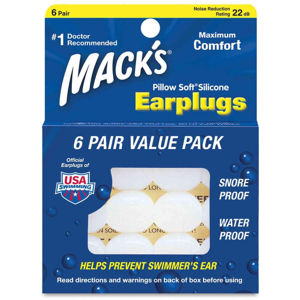 Compare Prices For 6 Pairs Macks Pillow Soft Silicone Earplugs Ear Plugs Free Case Made In Usa