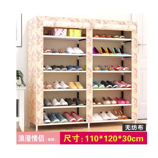 Rc Global Shoe Storage Shoe Shelves Shoe Rack Shoe Cabinet Shoe Organizers Double Row 6 Tier 110X120X30Cm Romatic Design Reviews