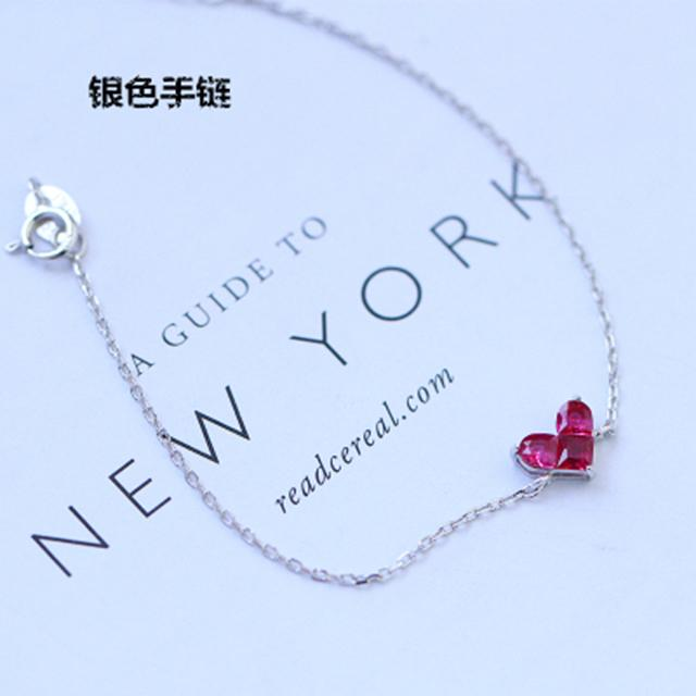 【Gelang cinta korundum merah】Nini m gadis kecil 2 * korundum merah cinta liontin