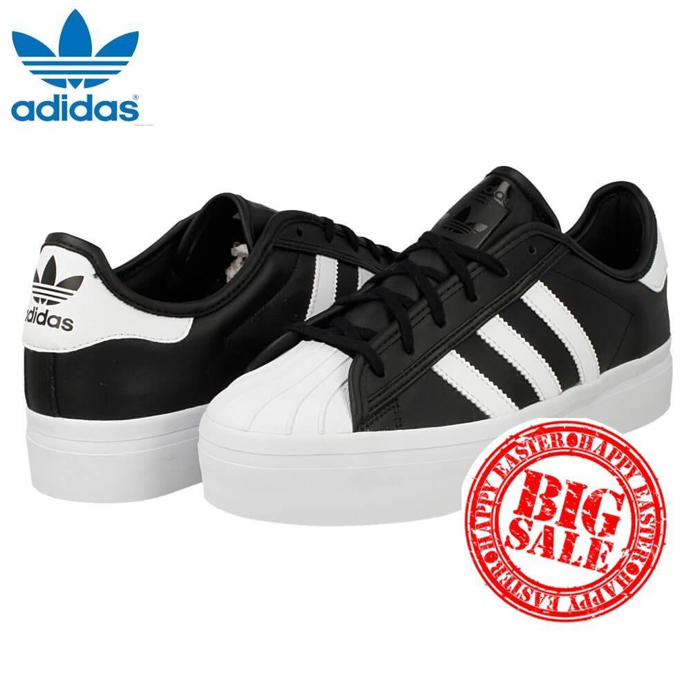 [demaged casella vendita speciale] adidas superstar rize w s75069 (nero / bianco) scarpe (donna 8 / 40)