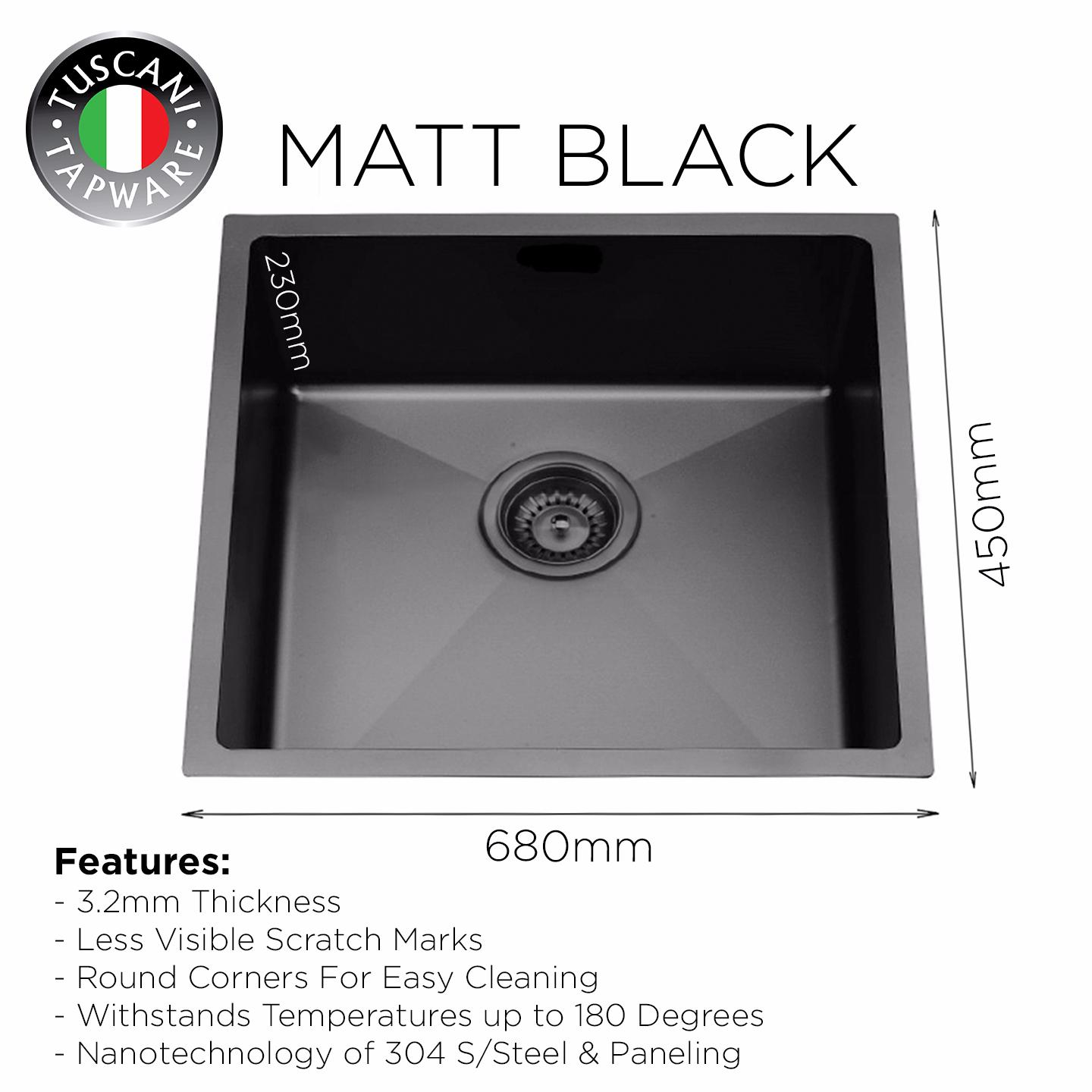 MBX-680 Black Kitchen Sink