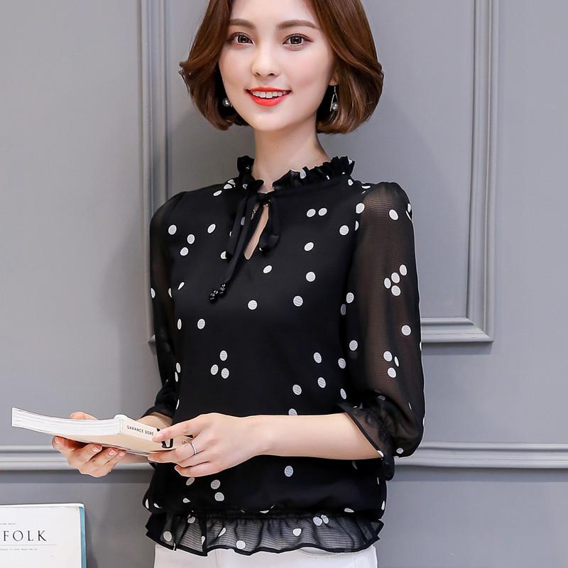 Sale Versatile Female New Style Loose Top Chiffon Shirt Oem Branded
