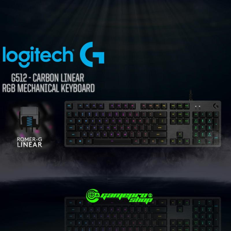 LOGITECH G512 CARBON (LINEAR/TACTILE/GX Blue) RGB MECHANICAL GAMING KEYBOARD  *GSS PROMO* Singapore