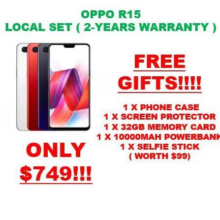 Oppo R15 Local Set With 2 Years Warranty Free Gifts Worth 99 Lower Price