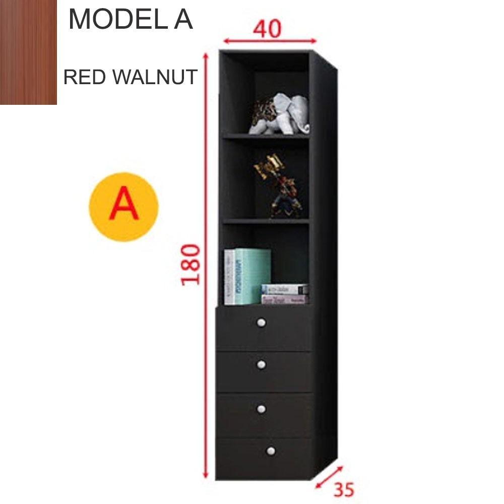 Premium Chandler Cabinet Bookshelves ( With Free Installation & 12 Months Warranty ) (Shelve Storage)