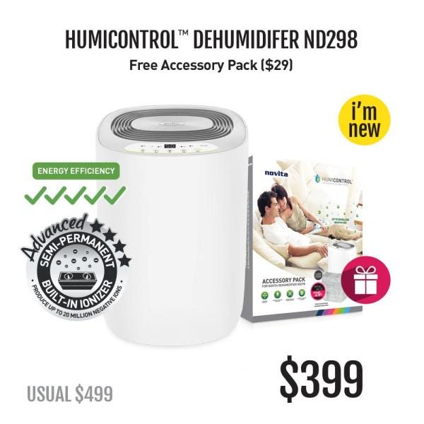 novita Dehumidifier ND298 with FOC Accessory Pack Singapore