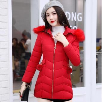 Pencari Harga 2018 item baru baju katun wanita Gaya Korea membentuk tubuh  Terlihat Langsing Bulu angsa pakaian katun modis model setengah panjang  Jaket ... 7c8ec598b5